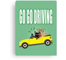 GO GO DRIVING Canvas Print