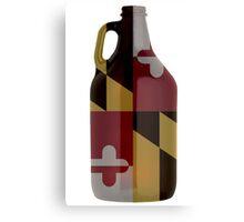 Maryland Flag Growler  Canvas Print