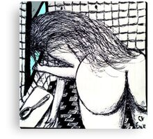 She came in through the bathroom window Canvas Print