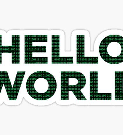 Hello World - Binary Sticker