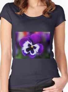 Pansy Dreaming of Summer Women's Fitted Scoop T-Shirt