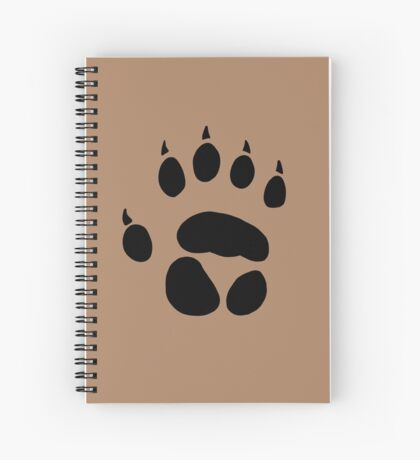 werewolf pawprint (no text) Spiral Notebook