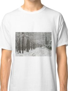 A Hike In The Winter Woods Classic T-Shirt