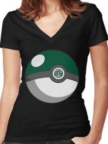 Starbucks Pokéball Women's Fitted V-Neck T-Shirt