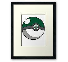 Starbucks Pokéball Framed Print