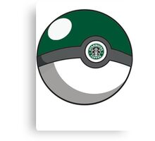 Starbucks Pokéball Canvas Print