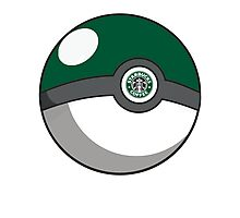 Starbucks Pokéball Photographic Print