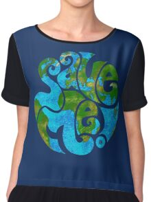 Save the Planet Chiffon Top
