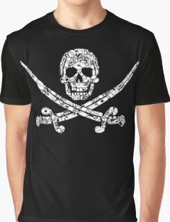 Pirate Service Announcement Graphic T-Shirt