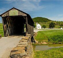 Goddard White Bridge And Church by mcstory