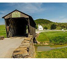 Goddard White Bridge And Church Photographic Print