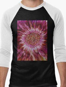 Flowerscape Pink Men's Baseball ¾ T-Shirt
