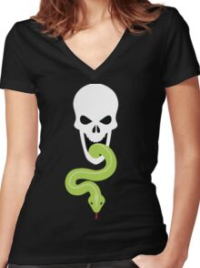 The Dark Mark Women's Fitted V-Neck T-Shirt