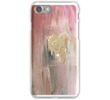 Pink - Gold - watercolor brush iPhone Case/Skin