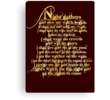 'Night Gathers...' Canvas Print