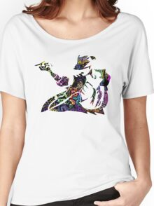 Michael Jackson -  Psychedelic Women's Relaxed Fit T-Shirt