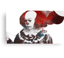 Stephen King's 'It' | Pennywise the Dancing Clown | Tim Curry | Galaxy Horror Icons Canvas Print