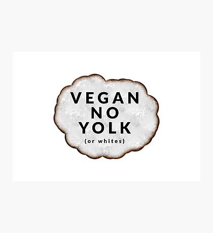 Funny Vegan Photographic Print