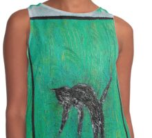Jumping Cat Contrast Tank