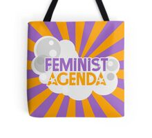 Feminist Agenda - Purple and Orange Tote Bag