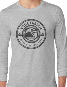 Vegetarian Heart Mind and Soul Food Long Sleeve T-Shirt