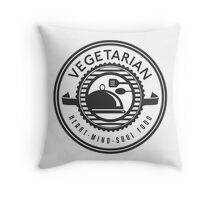 Vegetarian Heart Mind and Soul Food Throw Pillow