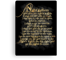 """Night Gathers..."" Canvas Print"