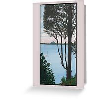 View from the Point, Omokoroa, New Zealand Greeting Card