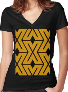 DESIGN X Women's Fitted V-Neck T-Shirt