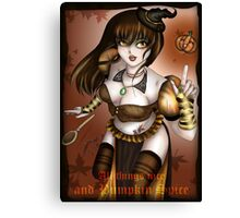 Pumpkin Spice Witch Canvas Print