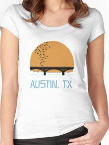 Austin Texas Bat Bridge  Women's Fitted Scoop T-Shirt