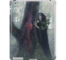 Woman druid listening to heartbeat of the tree art photo print iPad Case/Skin