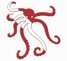 Octopus Scuba Diver Silhouette Kids Clothes