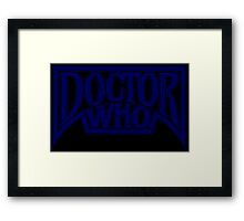 Doctor Who at the Pinnacle Framed Print