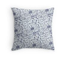 Back to School Supplies Sketchy  Notebook Throw Pillow