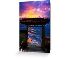 Sunset at Paradise Bay Greeting Card