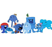 Mr Men and Little Misses - Blue Photographic Print