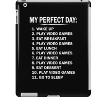 My Perfect Day Play Video Games iPad Case/Skin