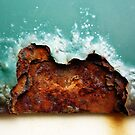 waves crashing on Currumbin Rock by Matt Mawson