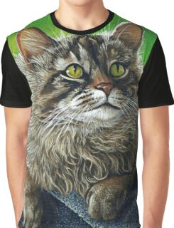 Beautiful Maine Coon Cat, painting Graphic T-Shirt