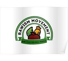 Vegan Vegetarian Rawish Movement Poster