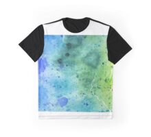 Watercolor Map of Pennsylvania, USA in Blue and Green - Giclee Print of My Own Watercolor Painting Graphic T-Shirt