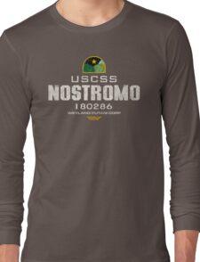 Alien Nostromo logo grunge Long Sleeve T-Shirt