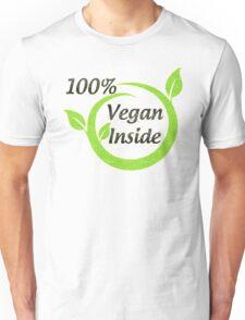 100% Vegan Inside Unisex T-Shirt
