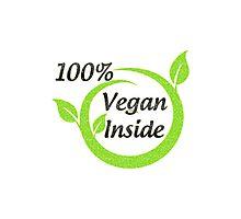 100% Vegan Inside Photographic Print