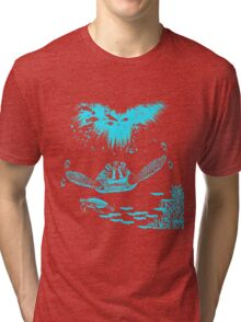 Under The Sea Turtle Design Tri-blend T-Shirt