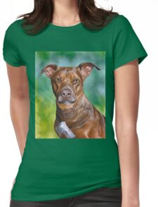 Charming Bit Pull Mix Dog, painting Womens Fitted T-Shirt