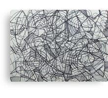 "the Artist Adamo ""RAW sharpie Conceptual Doodle"" Canvas Print"