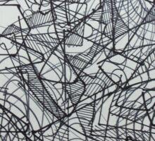 "the Artist Adamo ""RAW sharpie Conceptual Doodle"" Sticker"