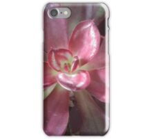Succulent lovers gifts dark red iPhone Case/Skin